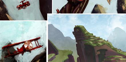 Machu Picchu Post - эскизы