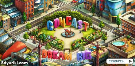 Видео нового дизайна Comcast