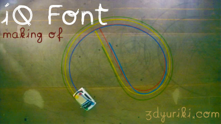 Toyota iQ Font - процесс создания