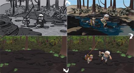 Процесс создания мультфильма Up (Вверх). От эскиза до анимации.
