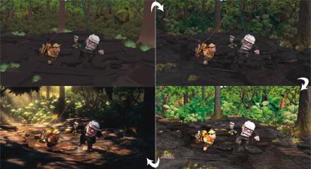 Процесс создания мультфильма Up (Вверх). От симуляции одежды до финальной картинки.